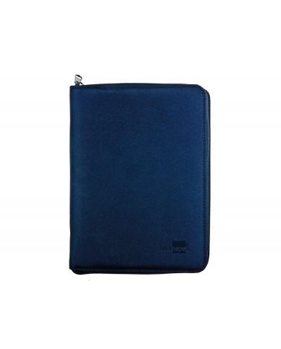 Agenda anillas liderpapel tarento 15x21 cm dia pagina nylon color azul papel 70 gr