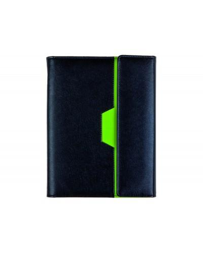 Agenda anillas liderpapel nero 15x21 cm 2021 dia pagina color negro verde papel 70 gr