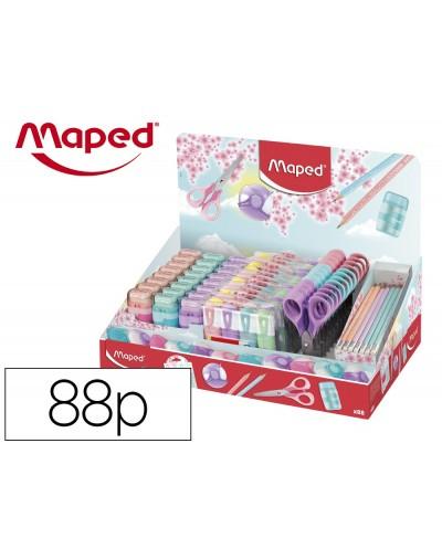Expositor maped coleccion pastel 88 piezas surtidas