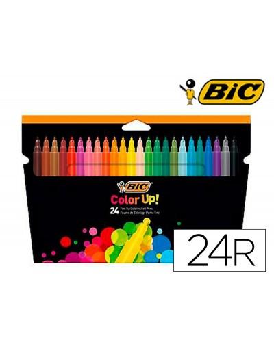 Rotulador bic color up estuche de 24 colores surtidos