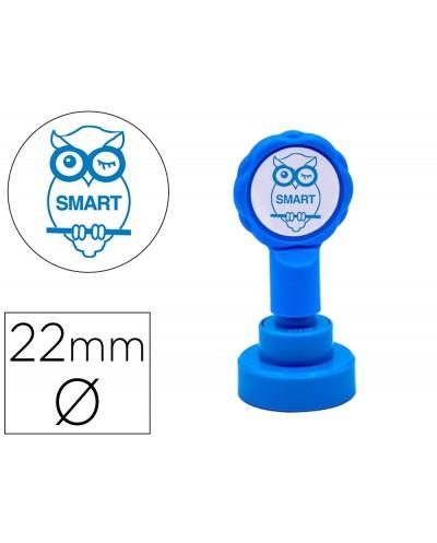 Sello artline emoticono inteligente color azul 22 mm diametro