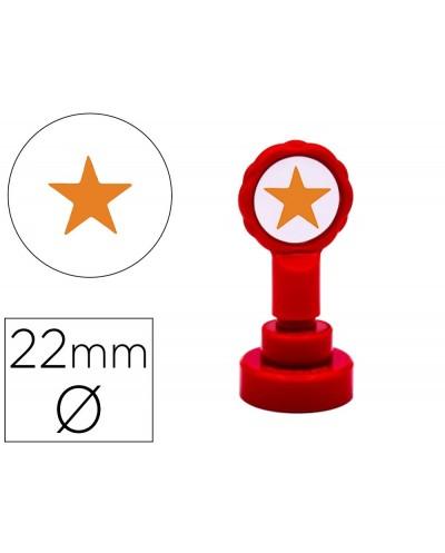 Sello artline emoticono estrella color oro 22 mm diametro