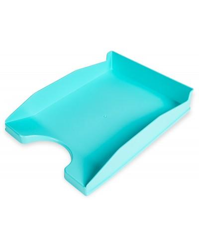 Bandeja sobremesa plastico q connect turquesa opaco