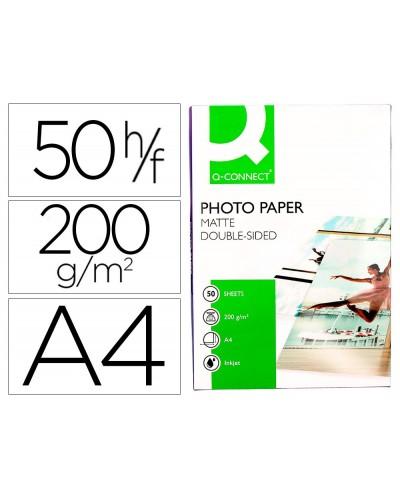 Papel q connect foto mate doble cara din a4 para fotocopiadoras e impresoras ink jet bolsa de 50 hojas 220
