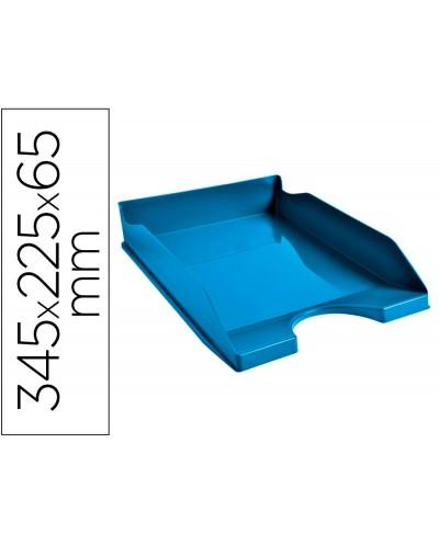 Bandeja sobremesa exacompta clean safe azul 345x255x65 mm