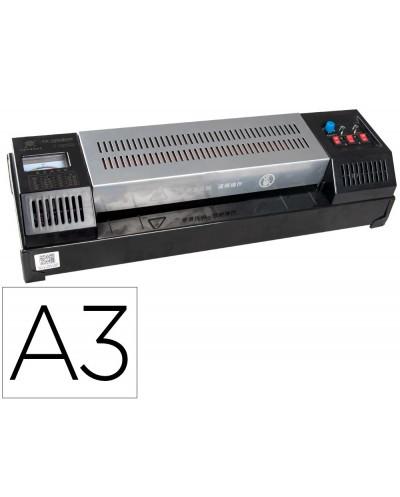 Plastificadora q connect kf16918 profesional rugerizada caliente din a3 cuatro rodillos hasta 200