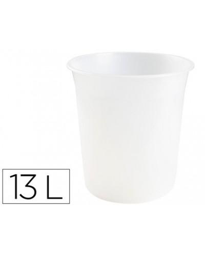 Papelera plastico q connect transparente 13 litros dim 275x285 mm