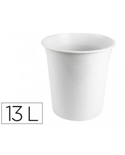 Papelera plastico q connect gris opaco 13 litros dim 275x285mm