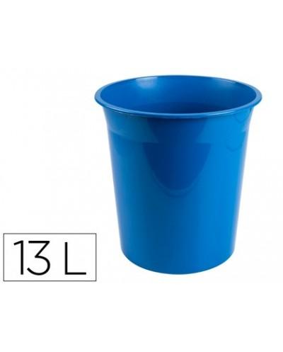 Papelera plastico q connect azul opaco 13 litros dim 275x285mm