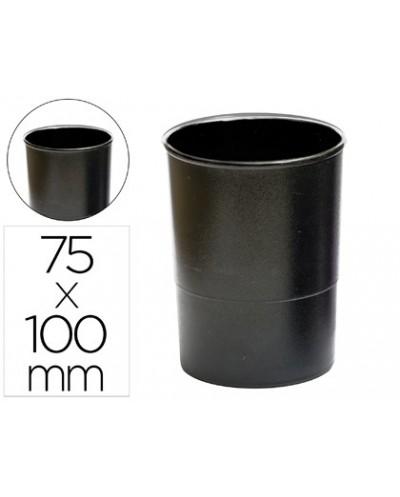 Cubilete portalapices q connect plastico negro opaco