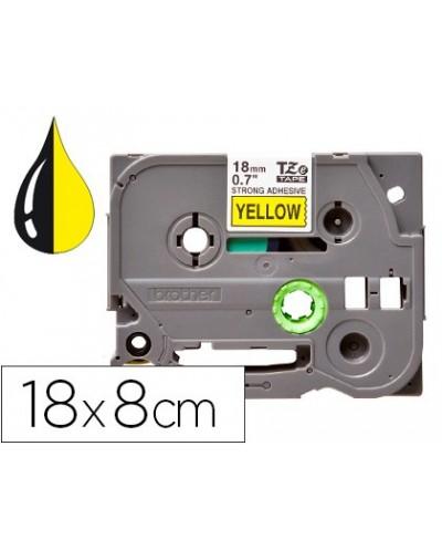 Cinta q connect tze 641 amarillo negro 18mm longitud 8 mt