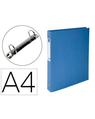 Carpeta de 2 anillas 30 mm redondas exacompta clean safe din a4 carton forrado azul