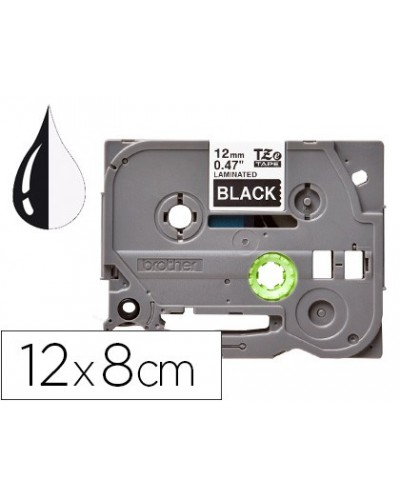 Cinta q connect tze 335 negro blanco 12mm longitud 8mt