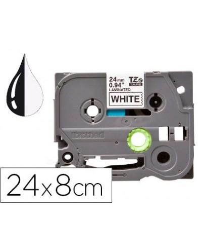Cinta q connect tze 251 blanco negro 24mm longitud 8 mt