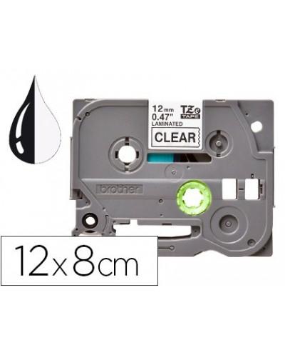 Cinta q connect tze 131 transparente negro 12mm longitud 8 mt