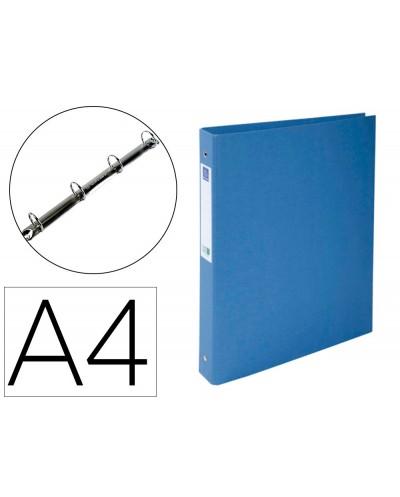 Carpeta de 4 anillas 30 mm redondas exacompta clean safe din a4 carton forrado azul