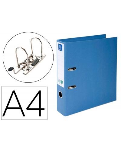 Archivador de palanca exacompta prem touch clean safe carton forrado din a4 lomo 70 mm azul