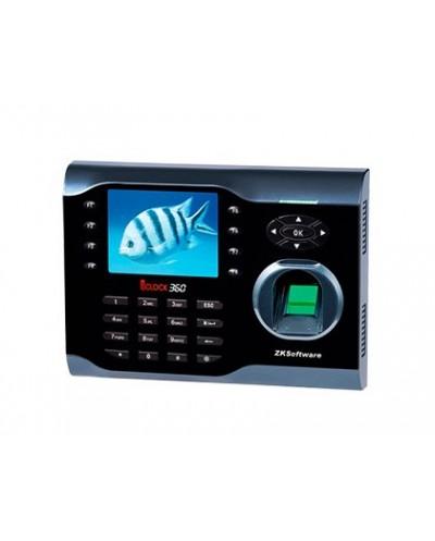 Controlador de presencia zkteco iclock360 con codigo pin tarjeta rfid o huella hasta 100 usuarios