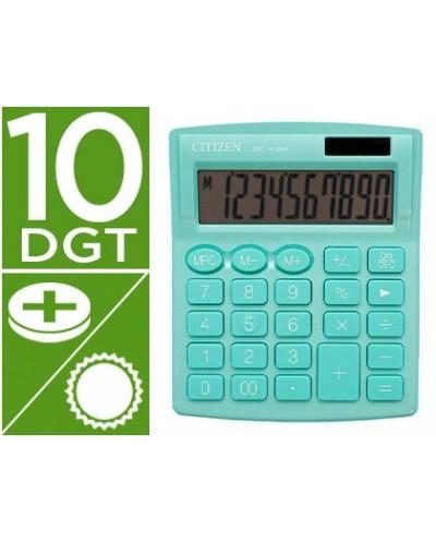 Calculadora citizen sobremesa sdc 810 nrgne 10 digitos 124x102x25 mm verde