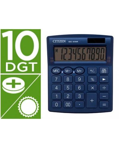 Calculadora citizen sobremesa sdc 810 nrnve 10 digitos 124x102x25 mm azul