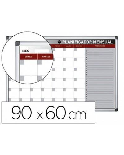 Planning magnetico bi office mensual lacado marco aluminio rotulable 90x60 cm