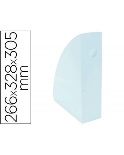 Revistero exacompta aquarel mag cube azul pastel