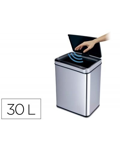 Papelera metalica q connect con sensor automatico capacidad 30 litros 500x240x330 mm
