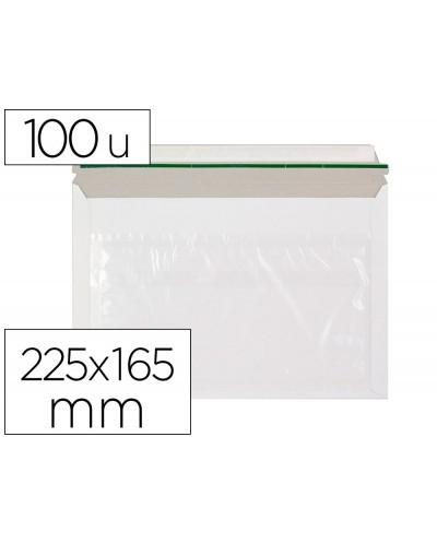 Sobre autoadhesivo q connect portadocumentos 225x165 mm ventana transparente paquete de 100 unidades