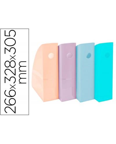 Revistero exacompta aquarel mag cube set de 4 unidades colores pastel 266x328x305 mm