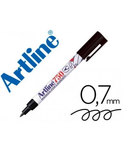 Rotulador artline marcador permanente ek 750 negro punta redonda 07 mm brico para marcar ropa