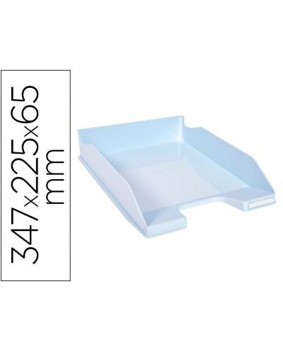 Bandeja sobremesa exacompta aquarel combo midi azul pastel 347x255x65 mm
