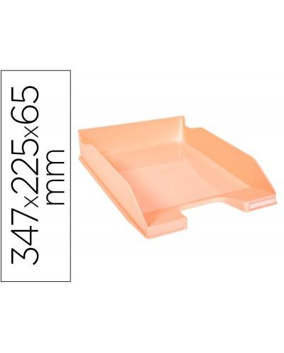 Bandeja sobremesa exacompta aquarel combo midi coral pastel 347x255x65 mm