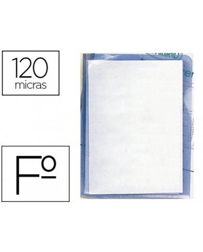 Carpeta dossier unero plastico q connect folio 120 micras transparente