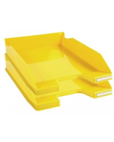 Bandeja sobremesa exacompta combo 2 classic amarillo 347x255x65 mm