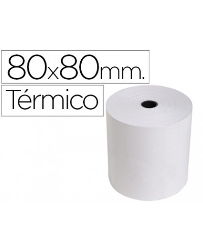 Rollo sumadora exacompta termico 80 mm x 80 mm 55 g m2 sin bisfenol a