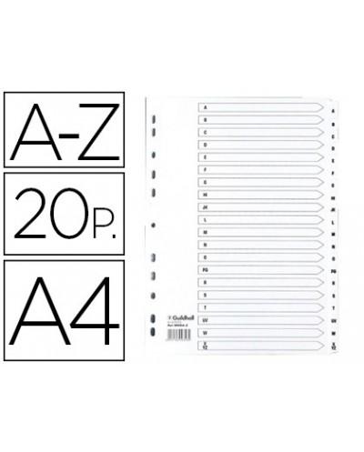 Separador exacompta cartulina blanca a z juego de 20 separadores din a4 11 taladros