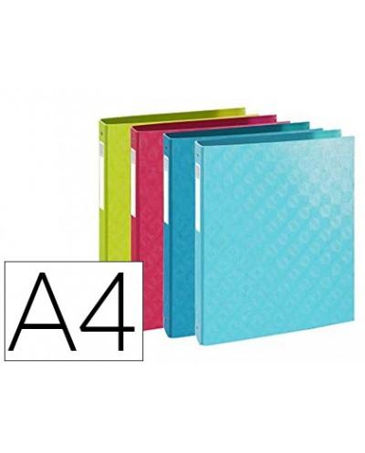 Carpeta exacompta 4 anillas 30 mm din a4 carton forrado colores surtidos