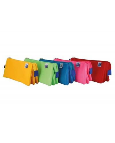 Portatodo escolar oxford portatodo kangoo kids triple colores surtidos 220x80x100 mm
