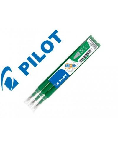 Recambio boligrafo pilot frixion ball verde caja de 3 unidades