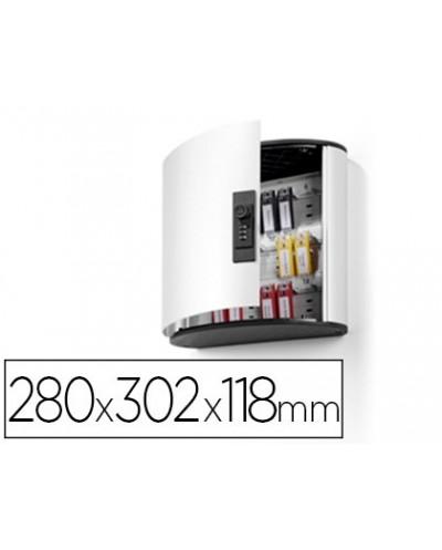Armario metalico portallaves durable 280x302x118 mm aluminio combinacion numerica para 18 llaveros key clip