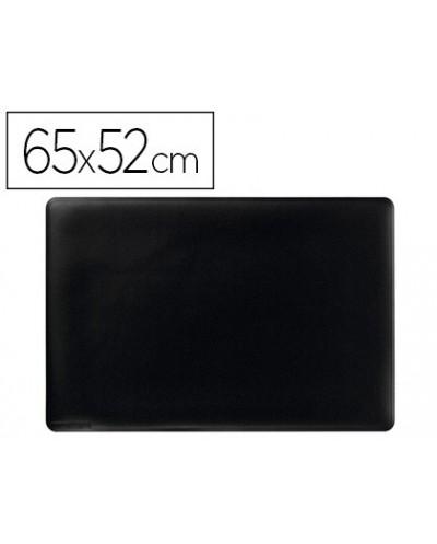 Vade sobremesa durable negro antideslizante contorneado 65x52 cm