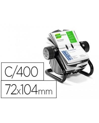 Tarjetero duraclip visifix rotatorio 200 fundas para 400 tarjetas 72x104 mm incluye separador az