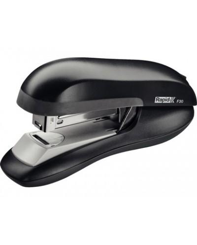 Grapadora rapid f30 plastico abs color negro capacidad 30 hojas usa grapas 24 6 y 26 6