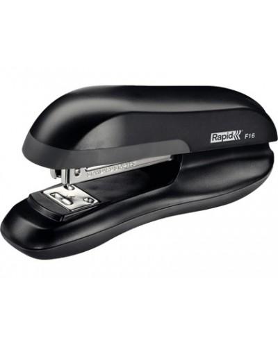 Grapadora rapid f16 plastico abs color negro capacidad 30 hojas usa grapas 24 6 y 26 6