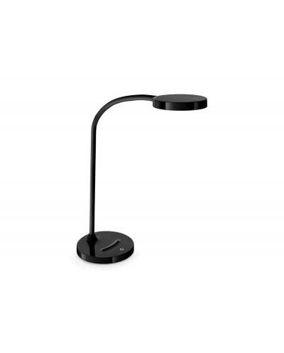 Lampara de oficina cep flex plastico led de 4w brazo flexible tactil color negro 160x600 mm