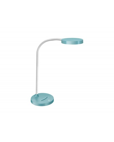 Lampara de oficina cep flex plastico led de 4w brazo flexible tactil color celeste 160x600 mm