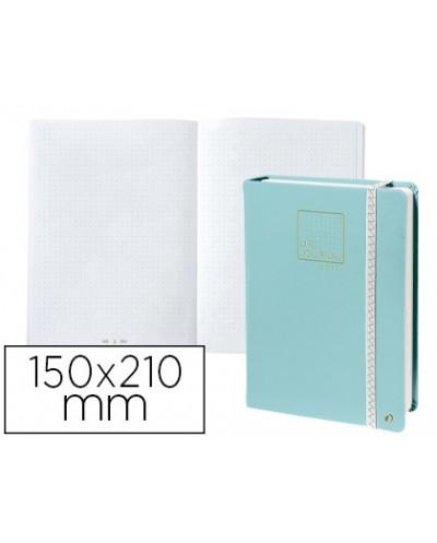 Libreta quo vadis life journal infinite dots puntos 15x21 cm 224 hojas tapa similpiel verde