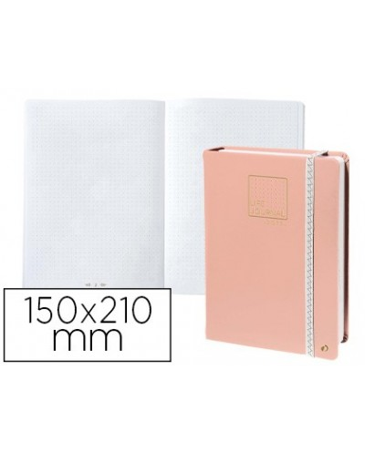 Libreta quo vadis life journal infinite dots puntos 15x21 cm 224 hojas tapa similpiel rosa