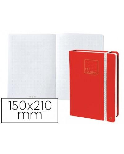 Libreta quo vadis life journal infinite dots puntos 15x21 cm 224 hojas tapa similpiel rojo