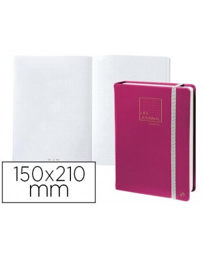 Libreta quo vadis life journal infinite dots puntos 15x21 cm 224 hojas tapa similpiel ciruela